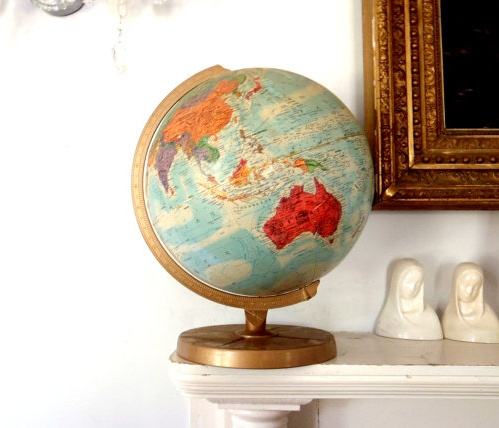196 best gorgeous globes images on pinterest maps world maps and world globe must find vintage globe at garage sale gumiabroncs Images