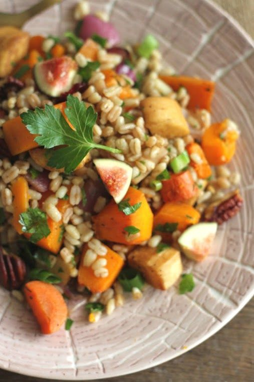 Wheatberry Salad with Roasted Root Vegetables #vegan #thanksgiving 070
