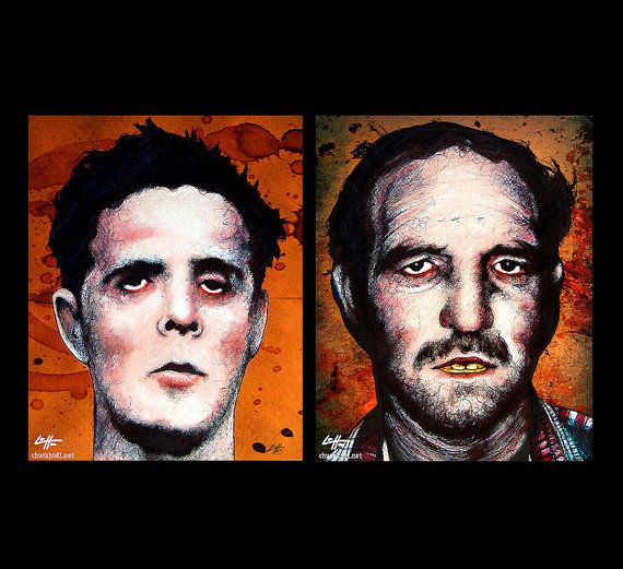 Prints 8x10  Henry Lee Lucas and Ottis Toole  Dark by chuckhodi, $17.00
