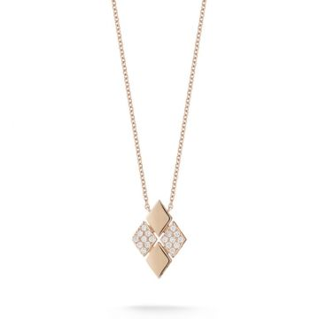 JEANIE ANN: Rose Gold Diamond Necklace