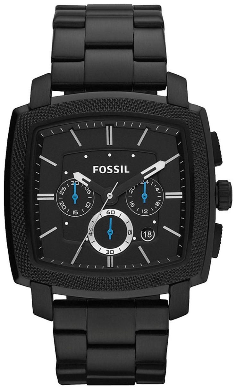 Fossil Men's FS4718 Machine Black Stainless Steel Watch < $99.99 > Fossil Watch Men
