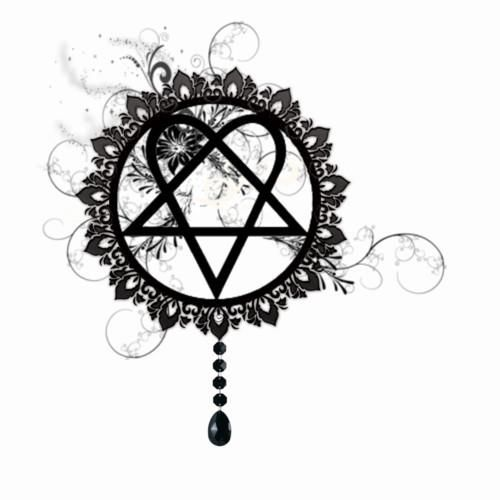heartagram- I literally draw this on everything... apparently not very well though. Nobody ever gets the heart part. I can't tell you how many times a day someone asks me if I'm satanic. Lol.