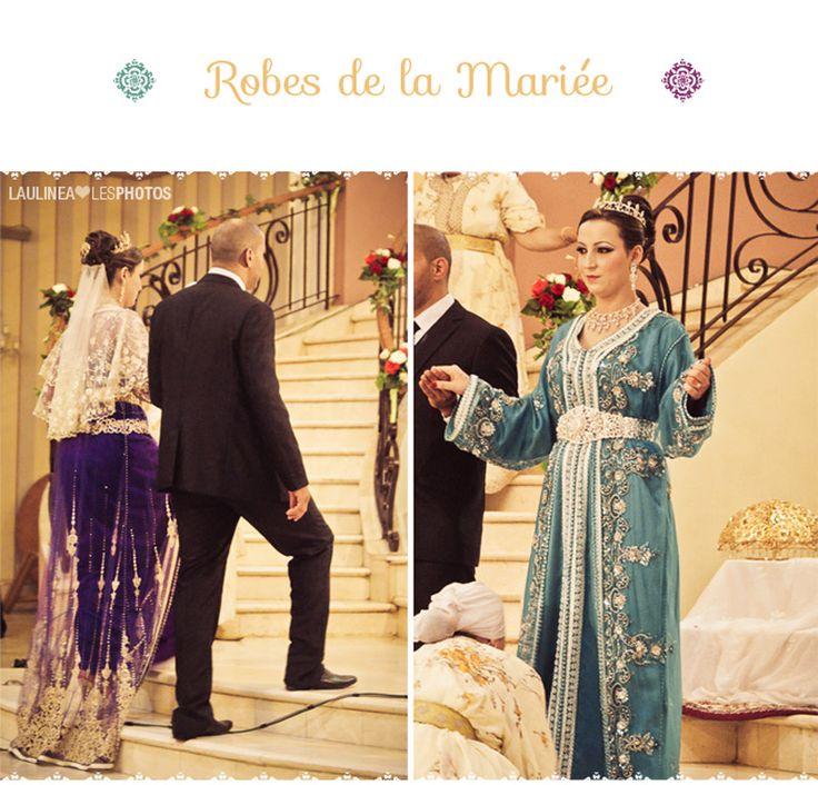 Reportage photo - Le mariage marocain est un show ! Il y a des danses, des chants, des défilés. C'est féerique, la mariée est splendide dans toutes ses robes, 5 au total.