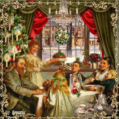 Old Fashioned Christmas Dinner by Connie