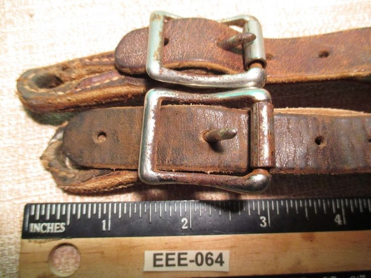 Vintage Double Back Brown Leather Used Cowboy Western Spur Straps MAKE OFFER