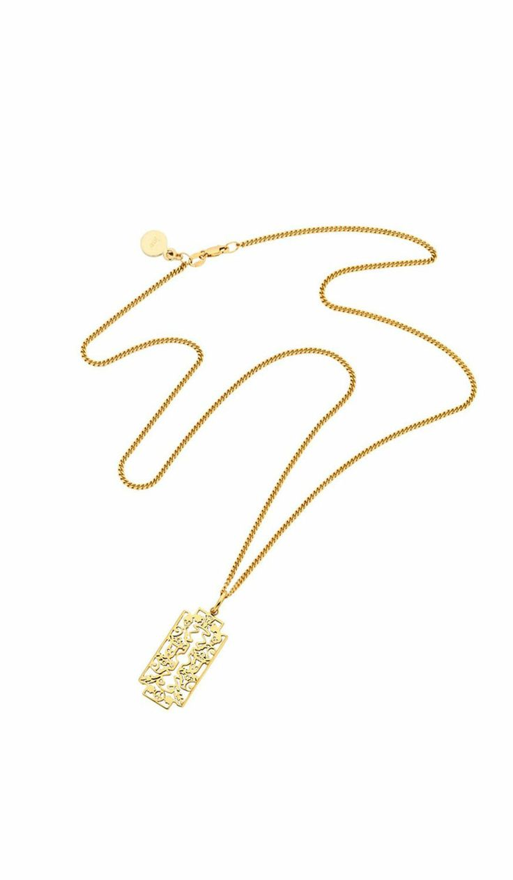 Razor Pendant Gold