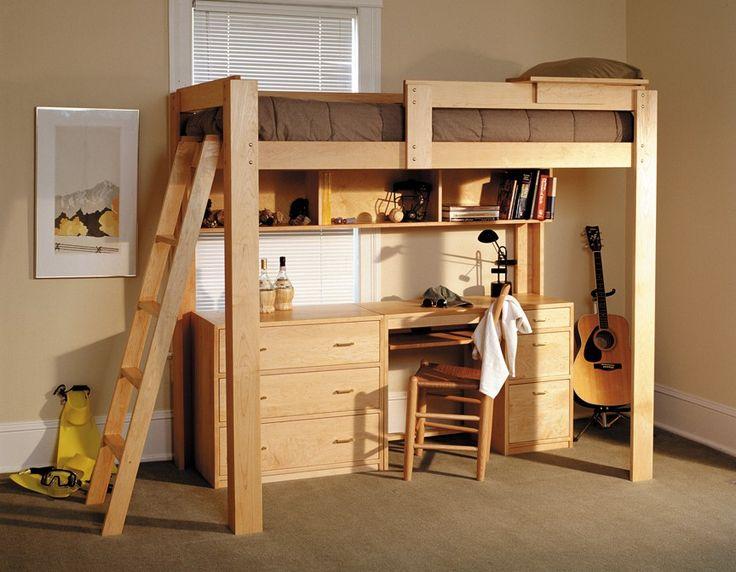 Adult High Sleeper Bed Minimalistic Design