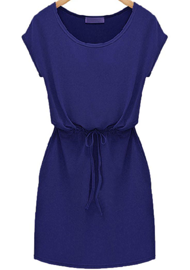 Shop Blues Workwear Short Sleeve Drawstring Slim Dress online. SheIn offers Blues Workwear Short Sleeve Drawstring Slim Dress & more to fit your fashionable needs.