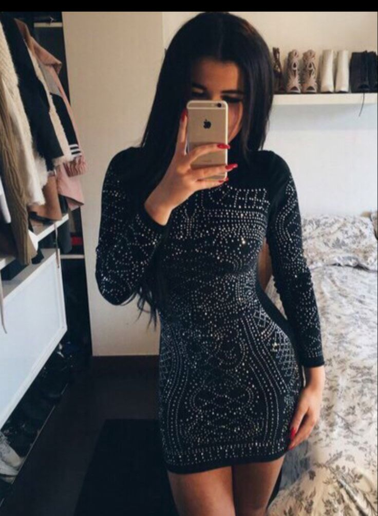 $49.99 Studded Long Sleeves Dress                                                                                                                                                                                 More