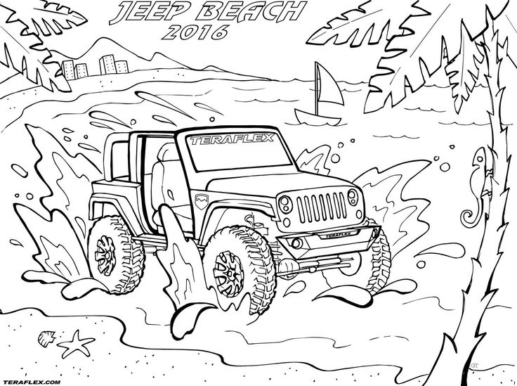 Find all of TeraFlex's famous Jeep coloring pages in one