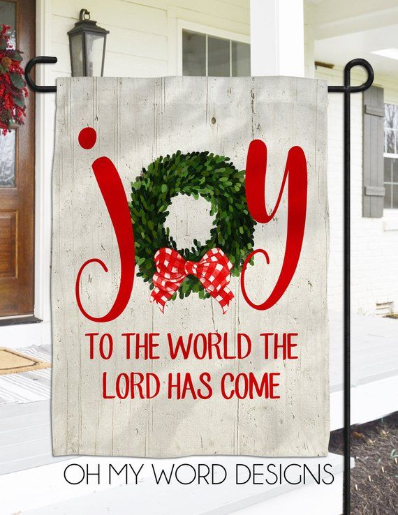 Christmas Flag Personalized Garden Flag Welcome Flag Farmhouse Garden Flag Christmas Decor Farmhouse Personalized Garden Flag Christmas Flag Garden Flag Stand
