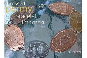 Pressed Penny Bracelet Tutorial - Rain Blanken