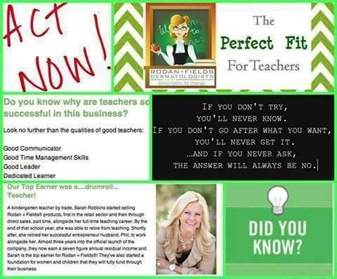Are you a teacher??? Rodan + Fields is the job for you