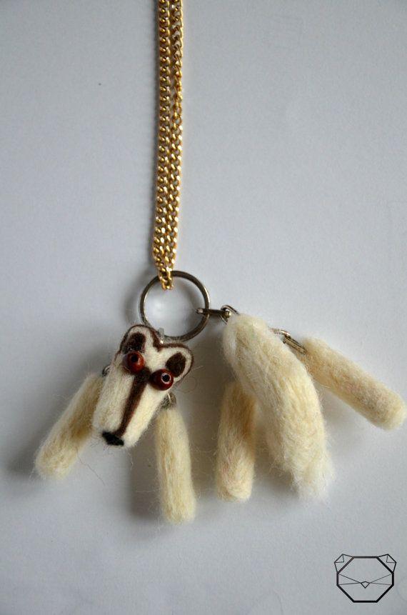 Handmade Wolf Necklace  Wolf Jewelry  White Wolf by KubuHandmade