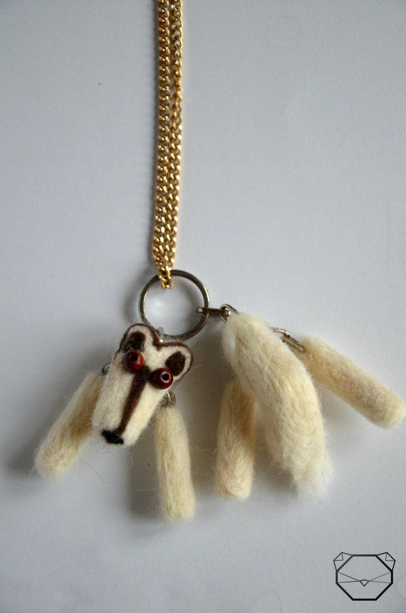 Handmade Wolf Necklace  Wolf Jewelry  White Wolf by KubuHandmade
