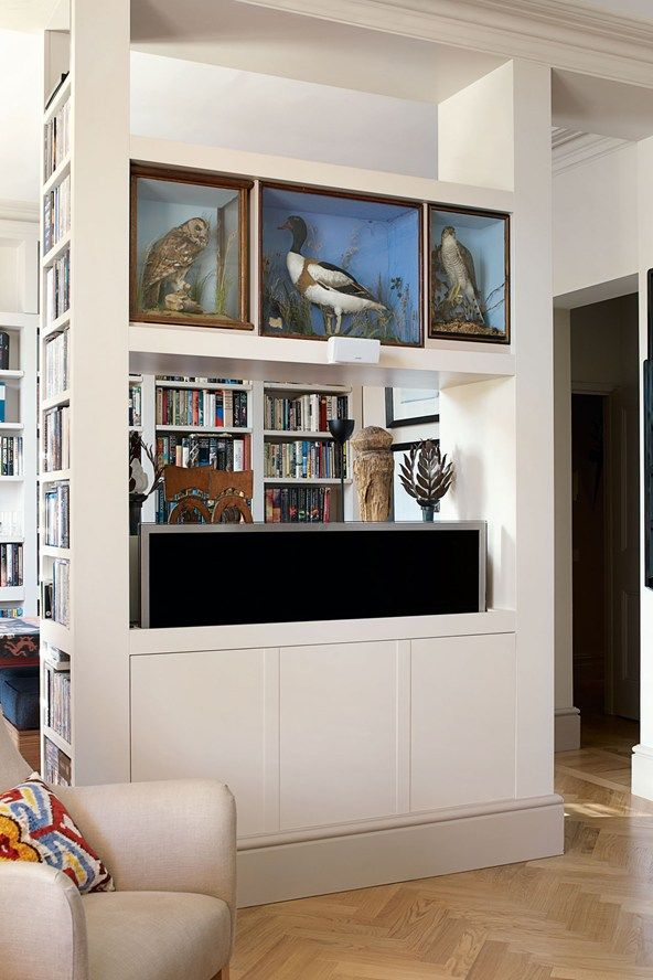 Anyone who wants to conceal a television or music system take note. These ideas are amazing. Storage ideas on HOUSE - design, food and travel by House & Garden.