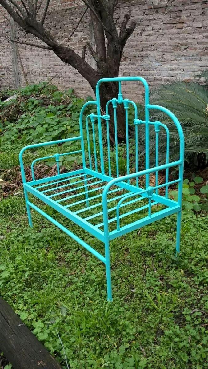 sillón camastro de hierro