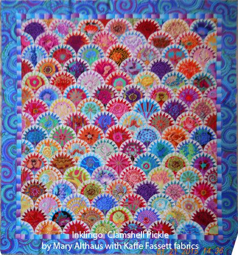 by Mary Althaus - Mary's Clamshell Pickle - made with Kaffe Fassett fabrics