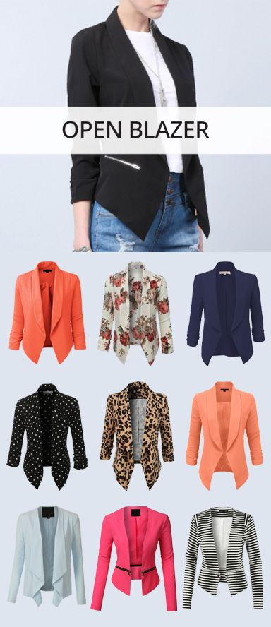 LE3NO Open Blazer Collection