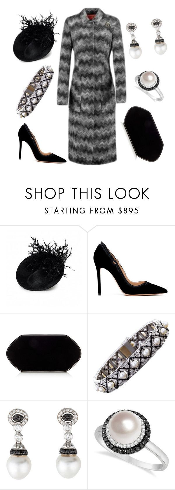 """Laying Memorial Wreath"" by nmccullough ❤ liked on Polyvore featuring Gianvito Rossi, Hunting Season and Allurez"