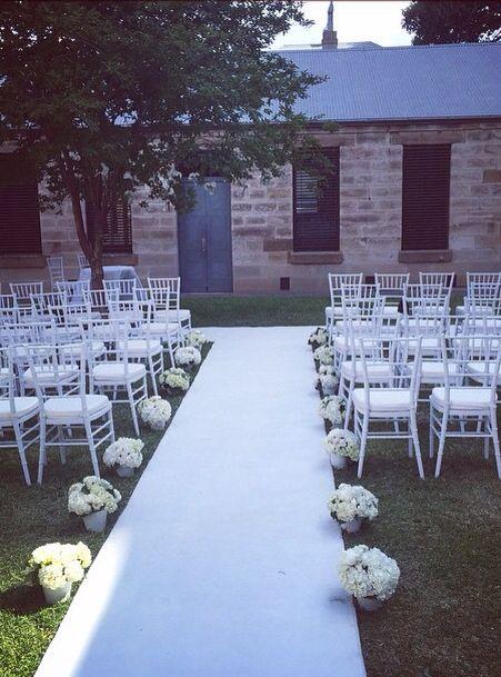 The Mint. Stunning wedding ceremony