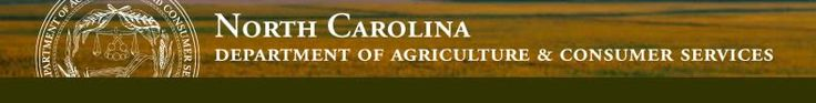 List of licenses regulated by NC Department of Agriculture & Consumer Services