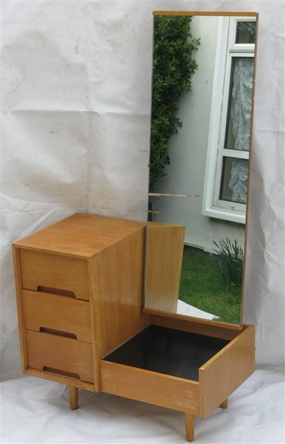 John And Sylvia Reid Stag Cheval Mirror Dressing Chest Of Drawers From The C Range Bedroom Furniture
