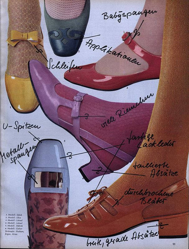 1967 Vintage shoe fashion, Germany