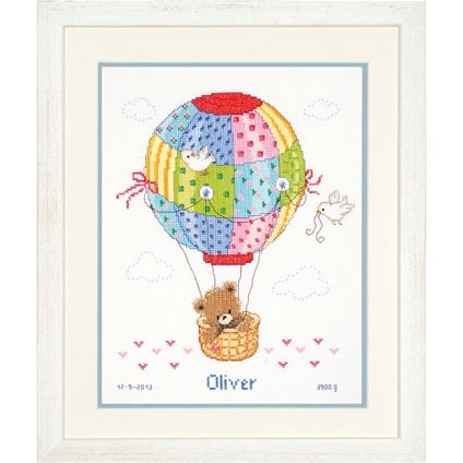 Flying In A Hot Air Balloon #foxcollection #crossstitch #craft