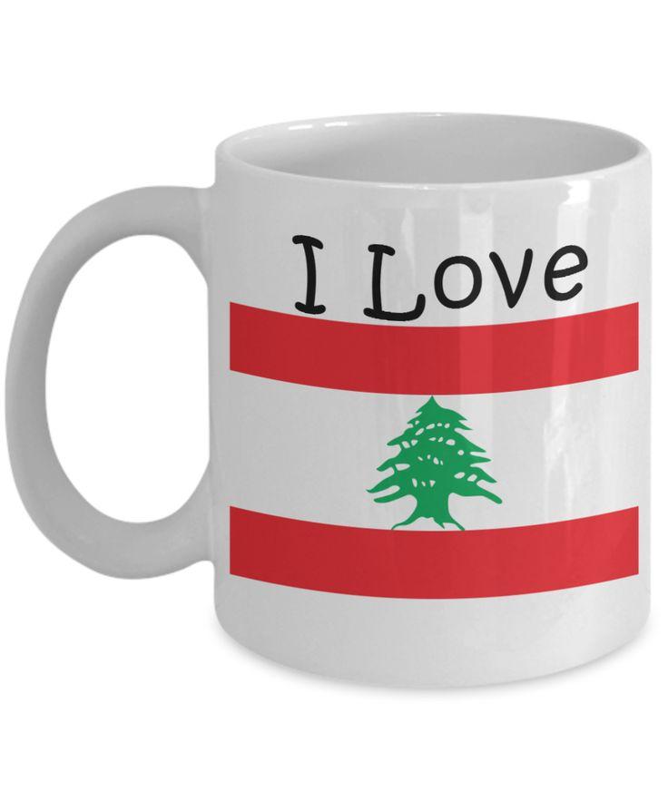 I Love Lebanon Coffee Mug With A Flag