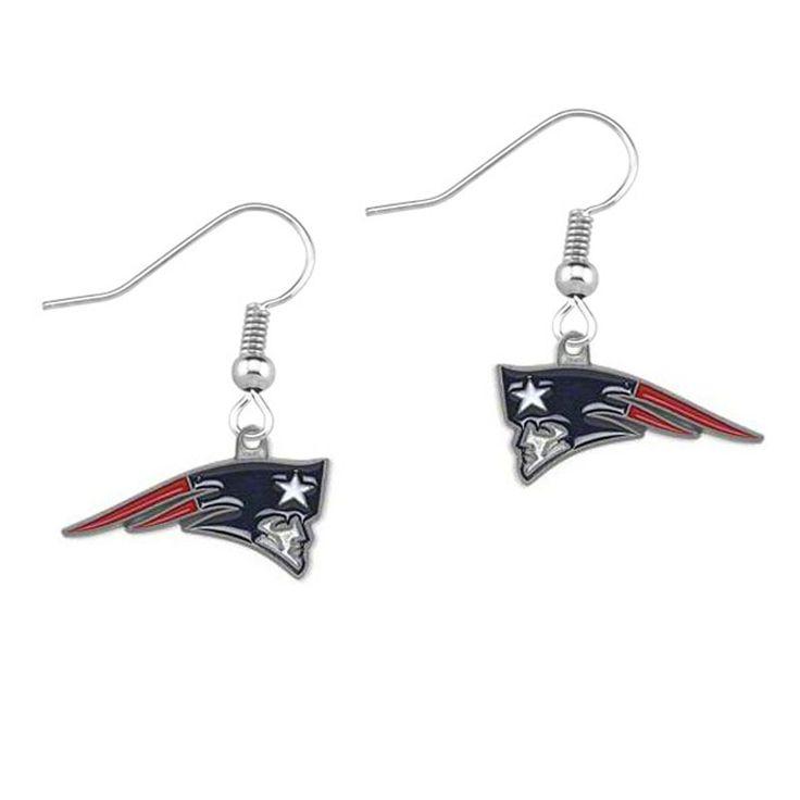 5Pairs New England Patriots Super Bowl Drip Earrings Girls Sports 2016 Fashion Jewelry