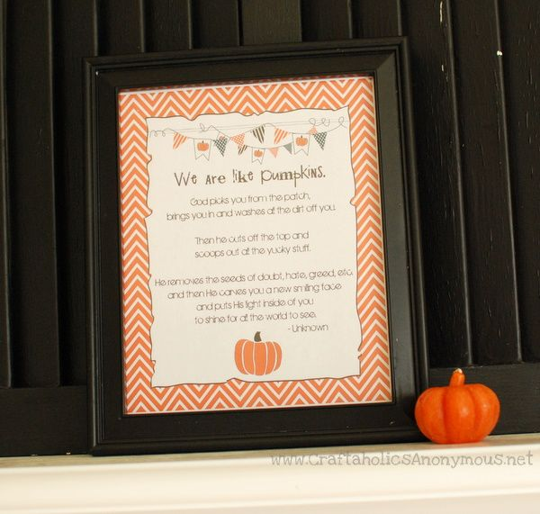We are like Pumpkins free printable! What a great little story.