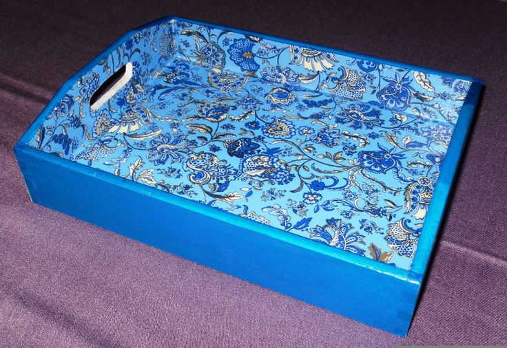 Decopatch DIY decorated serving tray.