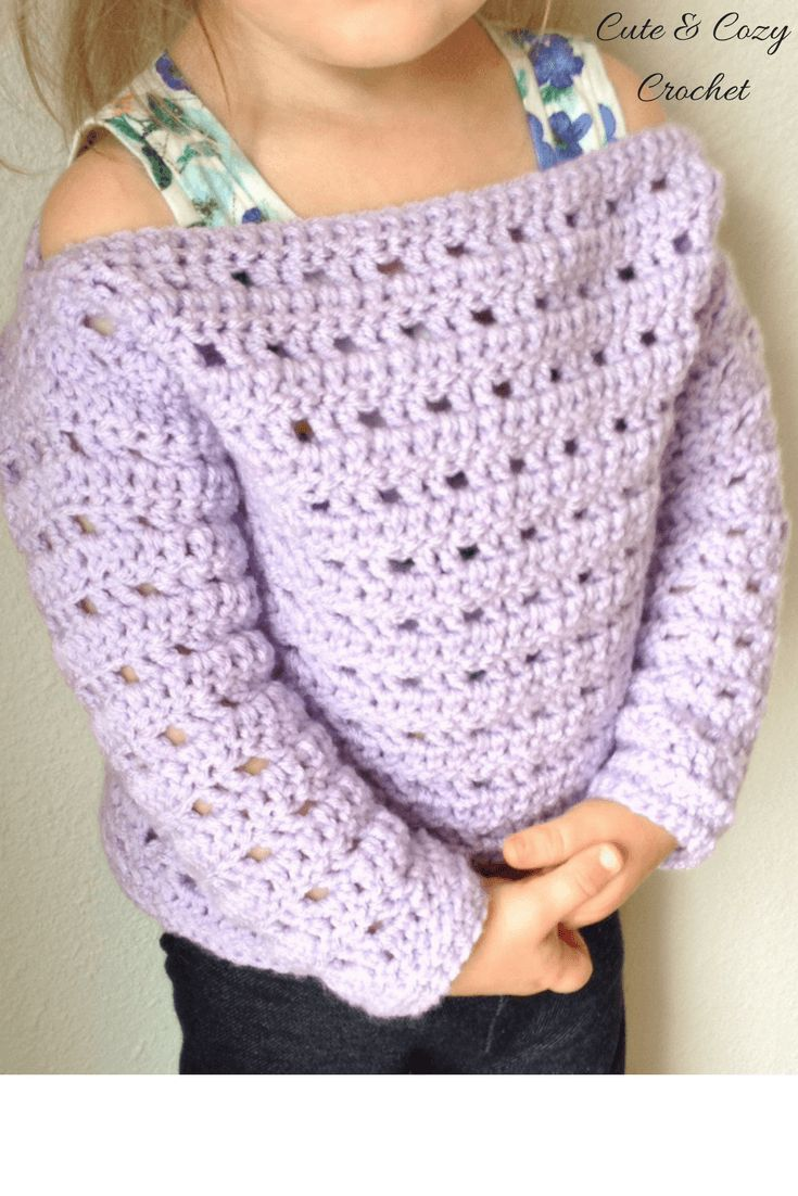 Cozy Toddler Pullover | Free Crochet Pattern | Toddler Sweater | Pullover | Crochet Pattern | Hobby Lobby | I Love This Yarn! | Orchid | Cute & Cozy Crochet