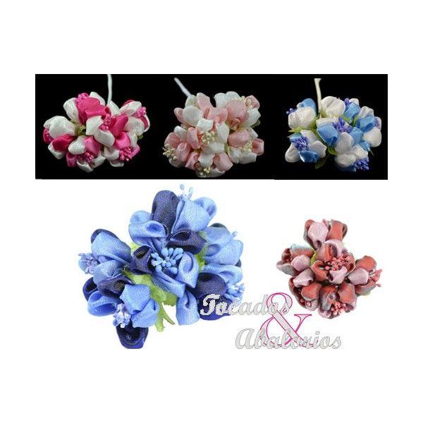 ¿Le damos colorido a nuestro diseño? Florecillas Primavera:  Flores de tela en diferentes colores #floresdetela