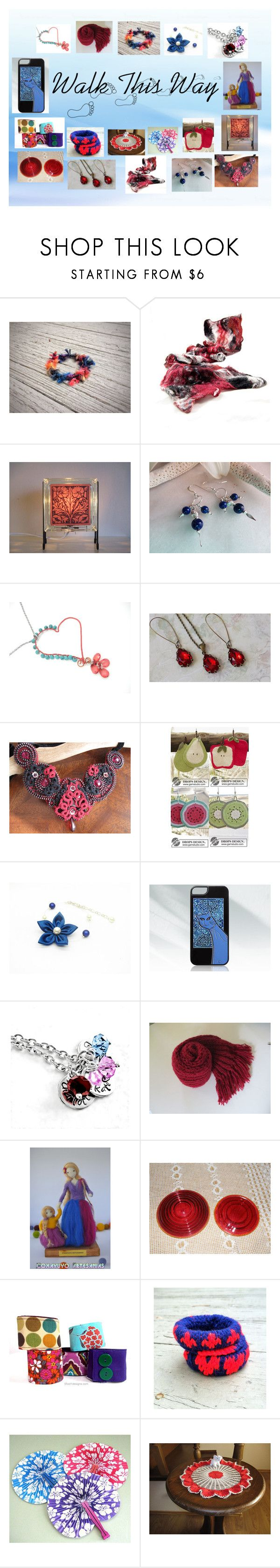 """""""Walk This Way: Vintage & Handmade for Her"""" by paulinemcewen ❤ liked on Polyvore featuring Lazuli, Nana' and vintage"""