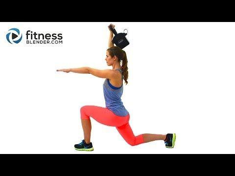 42 Minute Brutal HIIT Cardio and Kettlebell Workout - Workout to Build Lean Muscle and Burn Fat Fast - YouTube