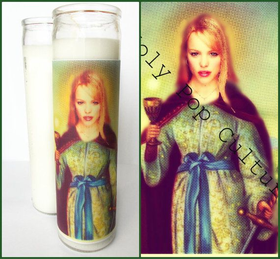 ✻Saint Regina George Prayer Candle✻  Pray for people to stop being obsessed with you.  **ALL DOMESTIC [U.S.] ORDERS SHIPPED PRIORITY MAIL**