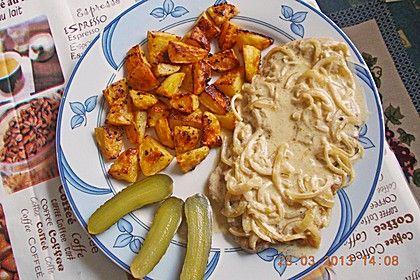 Rahm-Zwiebel-Schnitzel, ein schönes Rezept aus der Kategorie Braten. Bewertungen: 61. Durchschnitt: Ø 4,1.
