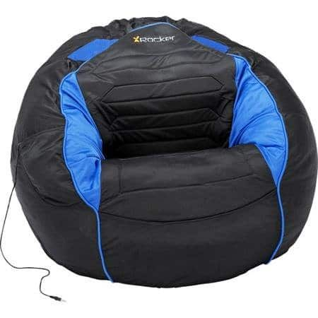 Stylish Blue and Black Bean Bag Sound Chair For Gamers