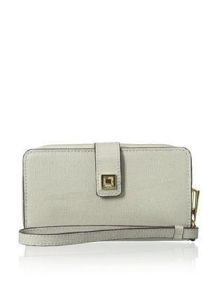 55% OFF LODIS Women's Saffiano Leather Tech Wallet, Ivy