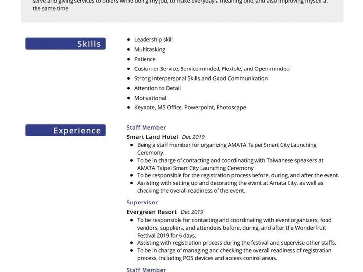 Hospitality management resume sample resumekraft in 2020