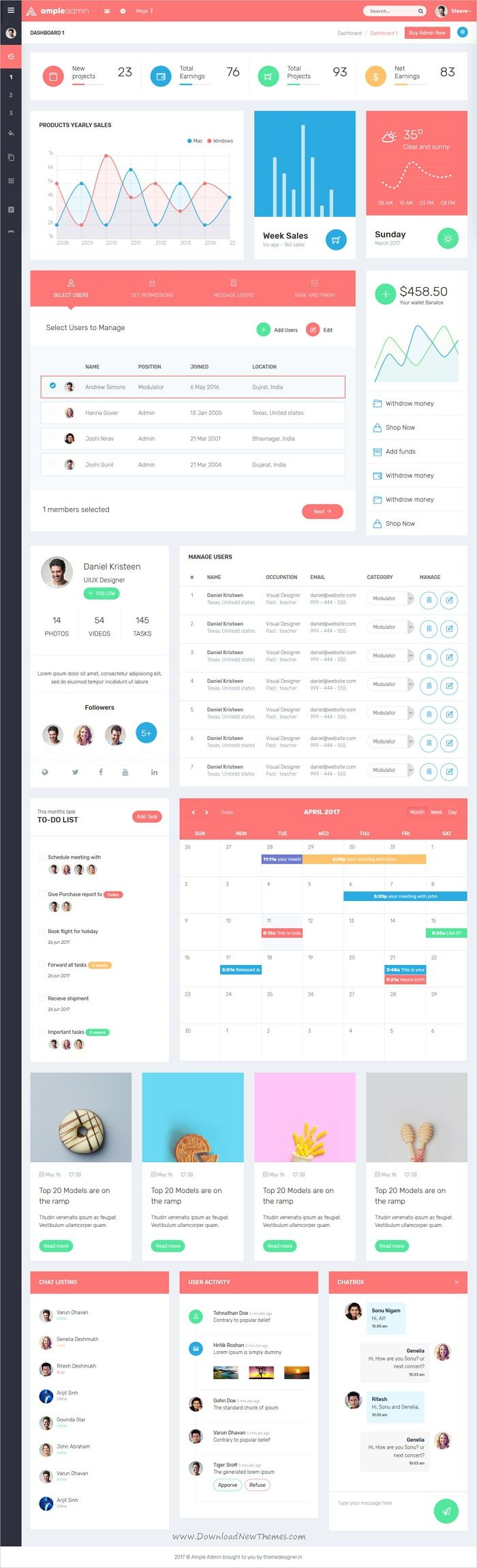 Ample Admin is a popular open source WebApp template for #admin #dashboards and control panels based on CSS, Bootstrap framework with 7 unique homepage layouts download now➩ https://wrapbootstrap.com/theme/ample-admin-dashboard-template-WB0RDB1MP?ref=datasata