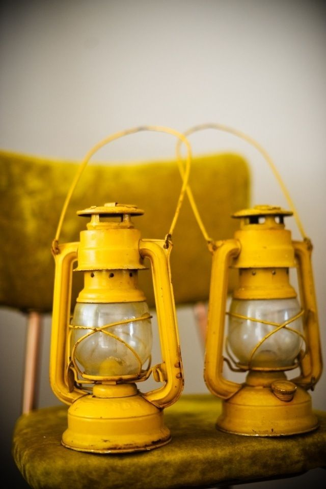 Yellow lanterns light up the night!