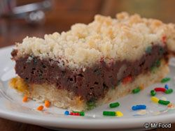 Chocolate Rainbow Bars (you could definitely skip the sprinkles if you'd like or just sprinkle a few over the top)
