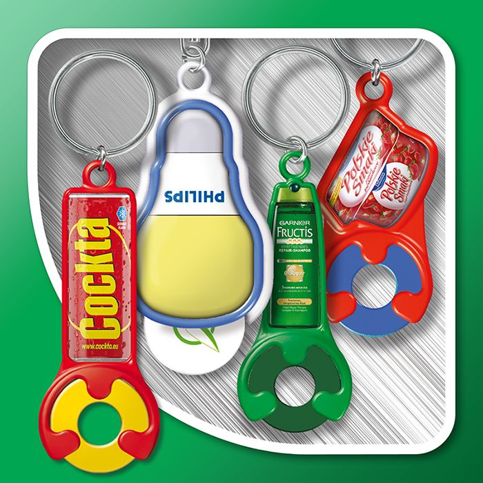 Keyrings with token  (individual shapes)