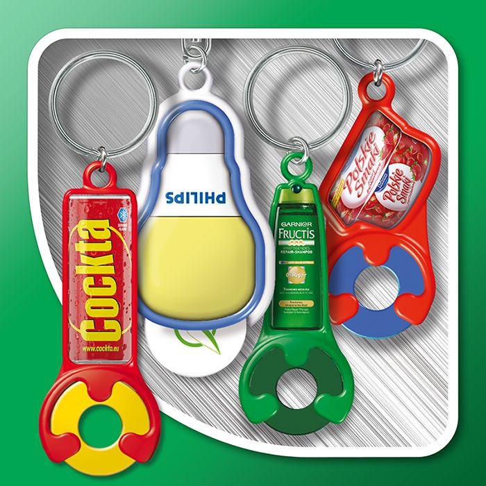 Keyrings with token  (individual shapes)