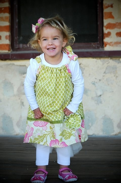 Spotty Blossom Drawstring dress