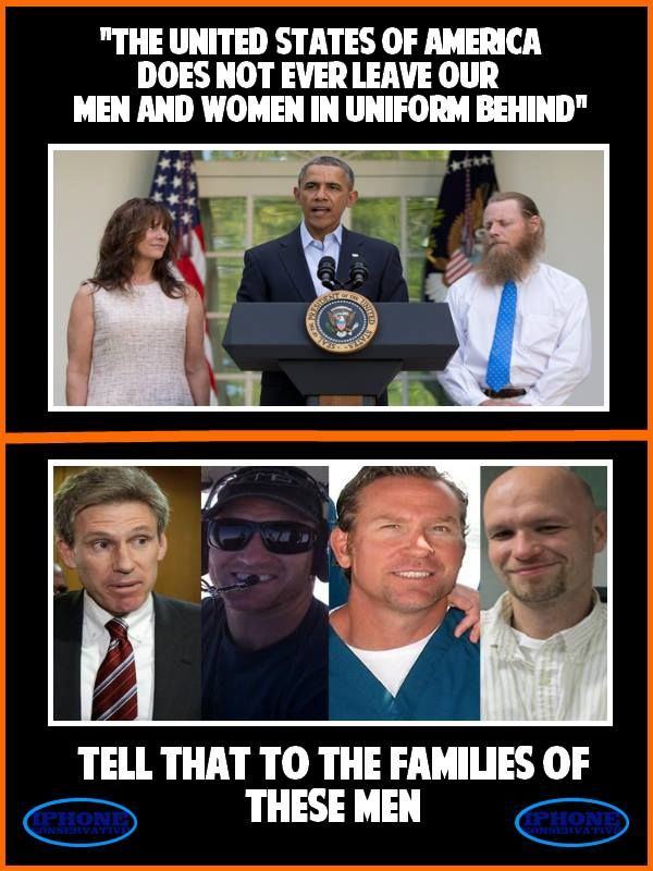 "Obama: ""The USA Never Leaves Men Behind"" ... Except Chris Stevens , Glen Doherty , Sean Smith & Tyrone Woods"