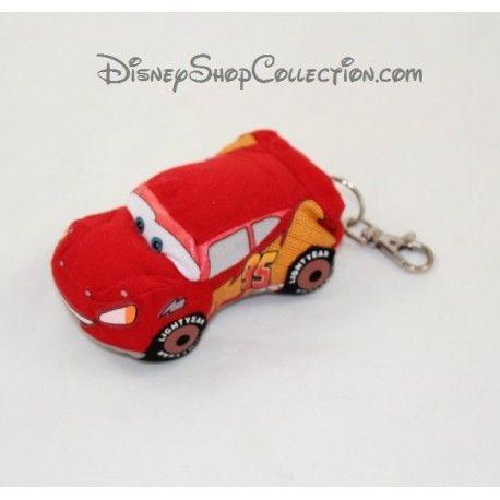 Porte clés peluche Flash Mcqueen DISNEY Cars voiture rouge 10 cm
